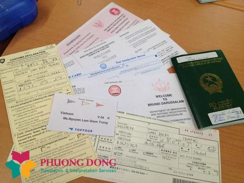 Dịch thuật hồ sơ du học, visa, hộ chiếu, chứng minh thư nhân dân, học bạ