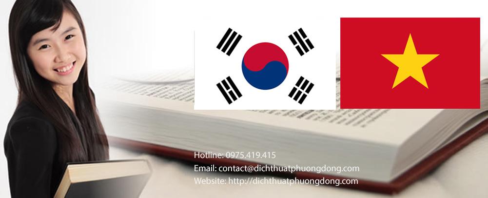Dịch vụ cho thuê phiên dịch viên tiếng Hàn, thông dịch viên tiếng Hàn