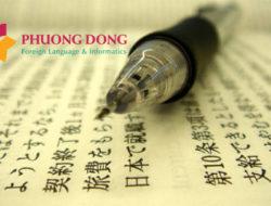 Dịch tài liệu đào tạo tiếng Nhật sang tiếng Việt
