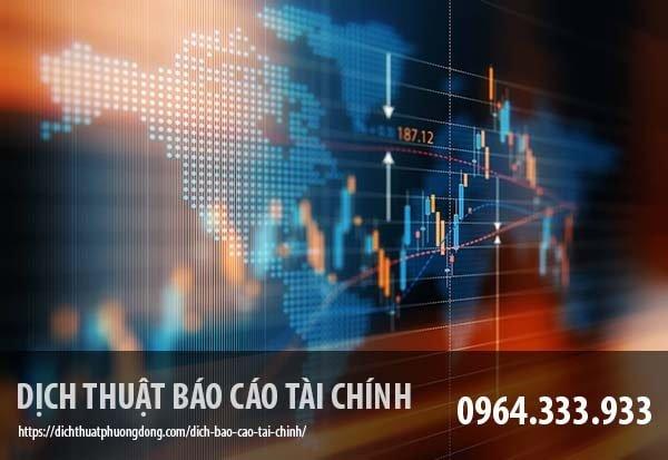 Dịch báo cáo tài chính tiếng Trung
