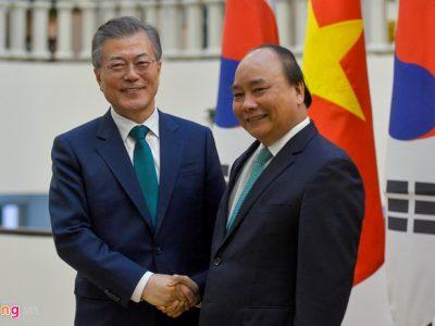 Tổng thống Hàn Quốc Moon Jae In rất ấn tượng với thành tựu mà Việt Nam đạt được