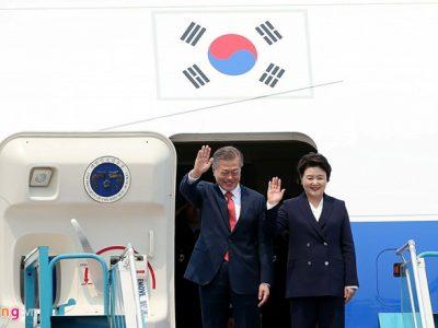 Tổng thống Hàn Quốc bắt đầu thăm chính thức Hà Nội vào ngày 22 tháng 3 năm 2018