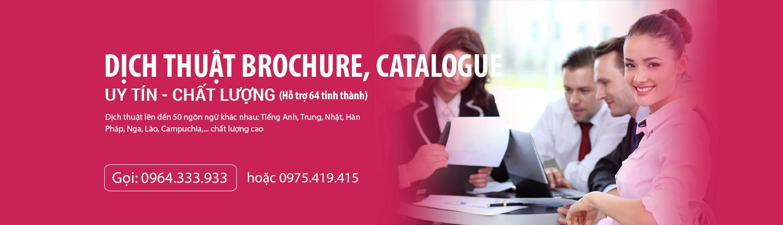 dịch thuật brochure, catalogue tiếng Anh - Trung - Nhật - Hàn