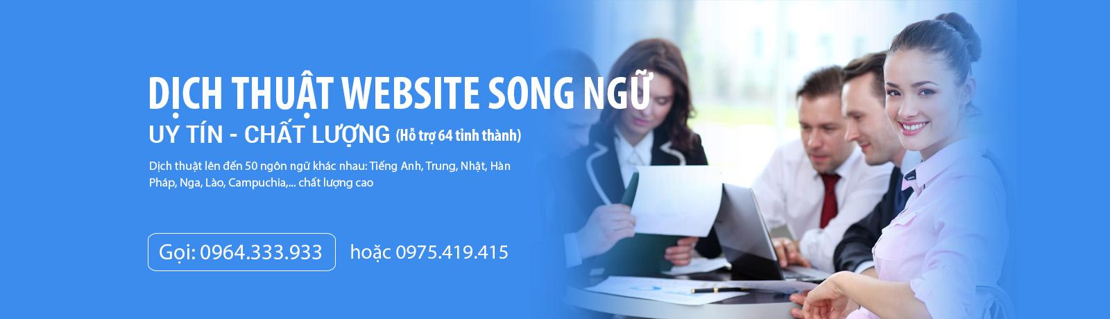 Dịch thuật website song ngữ tiếng Việt - Anh - Trung - Nhật - Hàn