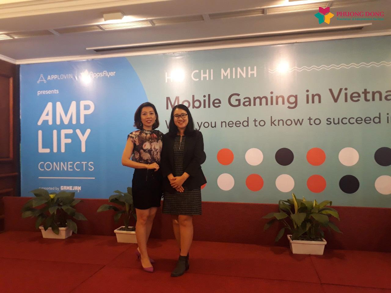 Phiên dịch Cabin Anh – Việt hội thảo Mobile Gaming tại Tp.HCM