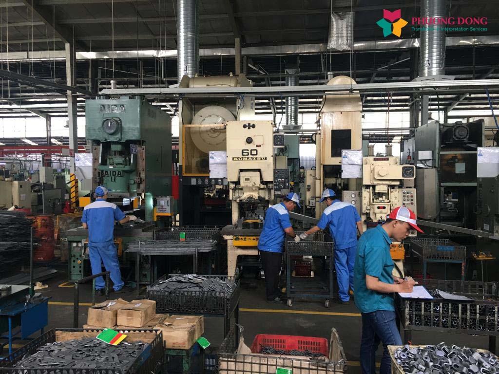 Dự án phiên dịch tiếng Anh tại nhà máy cho tập đoàn Soucy đến từ Canada