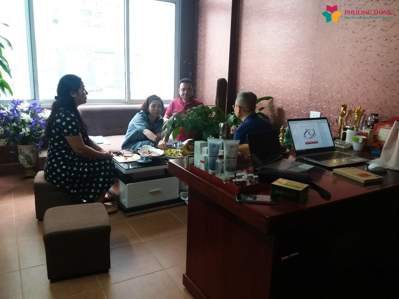 Phiên dịch Tiếng Anh về mua bán máy móc Spa ở Nguyễn Chánh - Cầu Giấy - Hà Nội