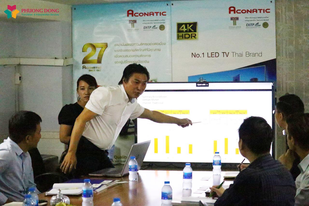 Phiên dịch tiếng Anh cho công ty Aconatic Việt Nam về việc nhập khẩu Smart TV Thái Lan