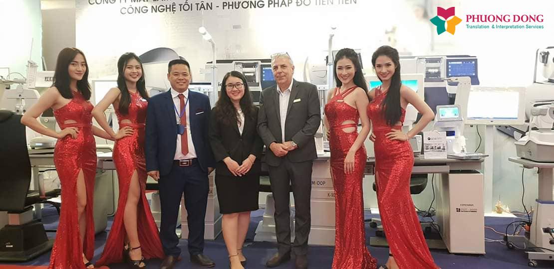 Phiên dịch Anh-Việt về triển lãm thiết bị y tế ngành nhãn khoa
