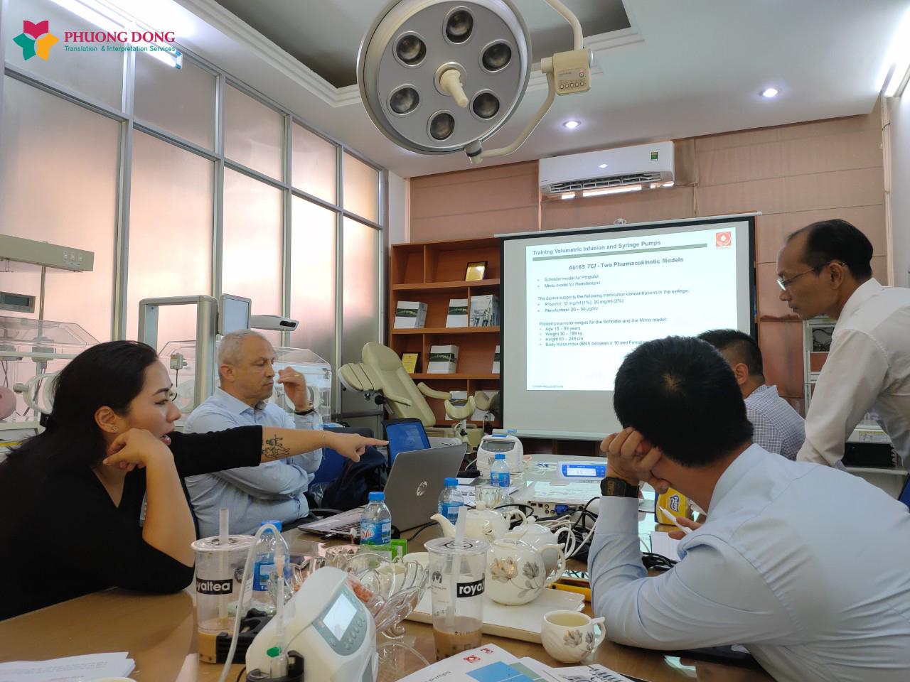Phiên dịch tiếng Anh chuyên ngành thiết bị y tế cho công ty cổ phần Thiết bị Y tế Trường Sơn