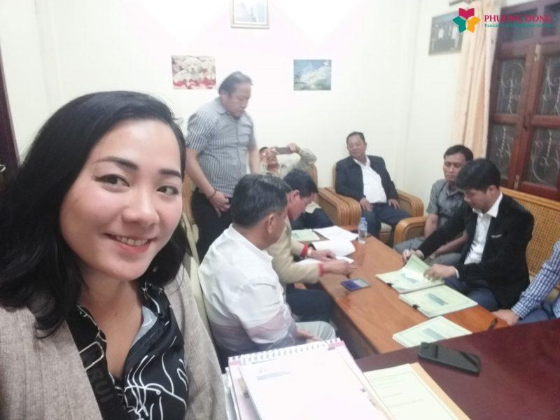 Phiên dịch tiếng Anh cho buổi ký kết hợp đồng lĩnh vực xây dựng tại Lào