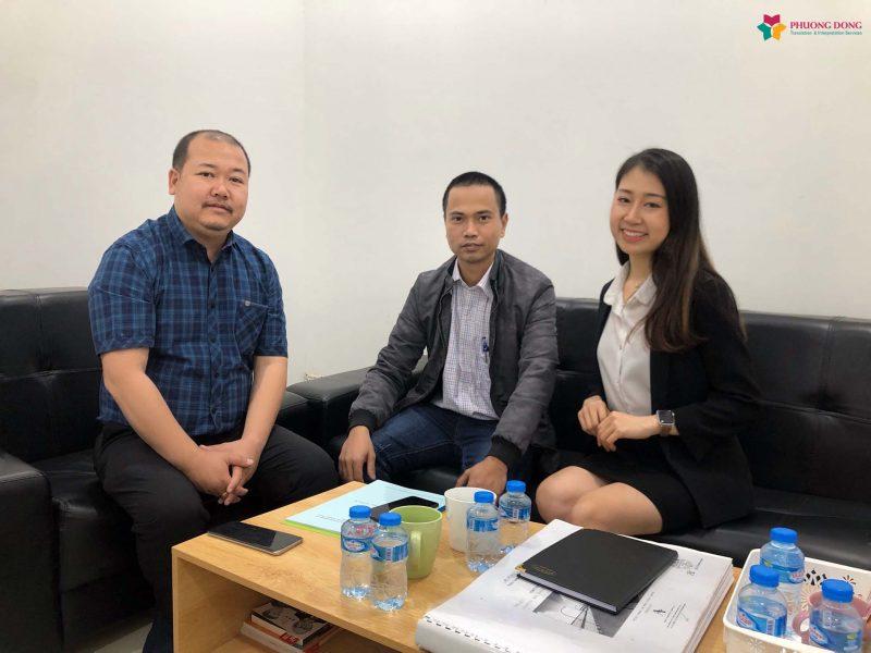 Phiên dịch tiếng Anh tháp tùng sang Lào cho công ty cổ phần Công Nghệ Hạ Tầng Cơ Sở Aitogy