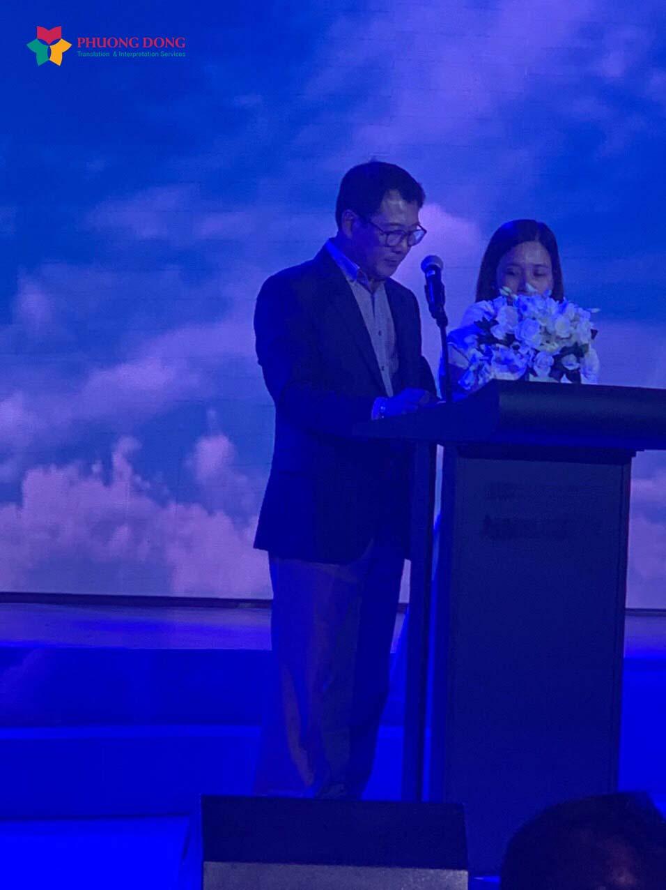 Dự án phiên dịch hội thảo ra mắt sản phẩm mỹ phẩm Ji Hye với hình thức phiên dịch nối tiếp do Phương Đông thực hiện