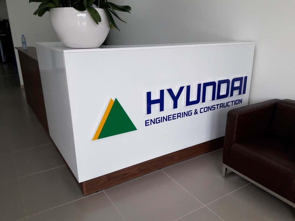 Buổi làm việc của khách hàng tại Hyundai Engineering & Construction