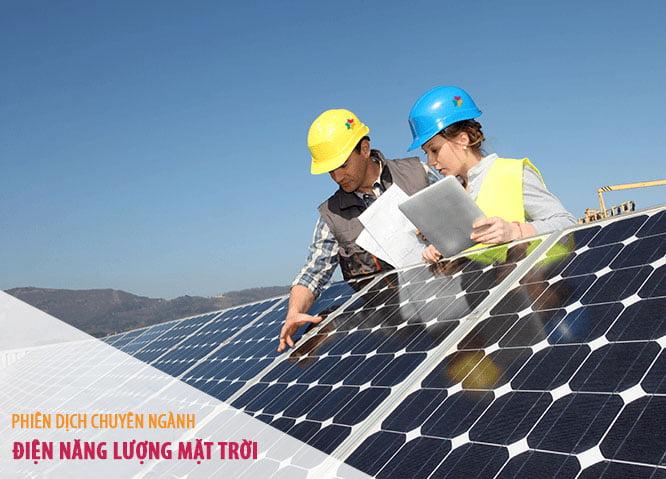 Phiên dịch chuyên ngành điện năng lượng mặt trời
