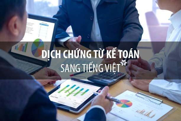 Dịch chứng từ kế toán sang tiếng Việt để hạch toán thuế và BCTC
